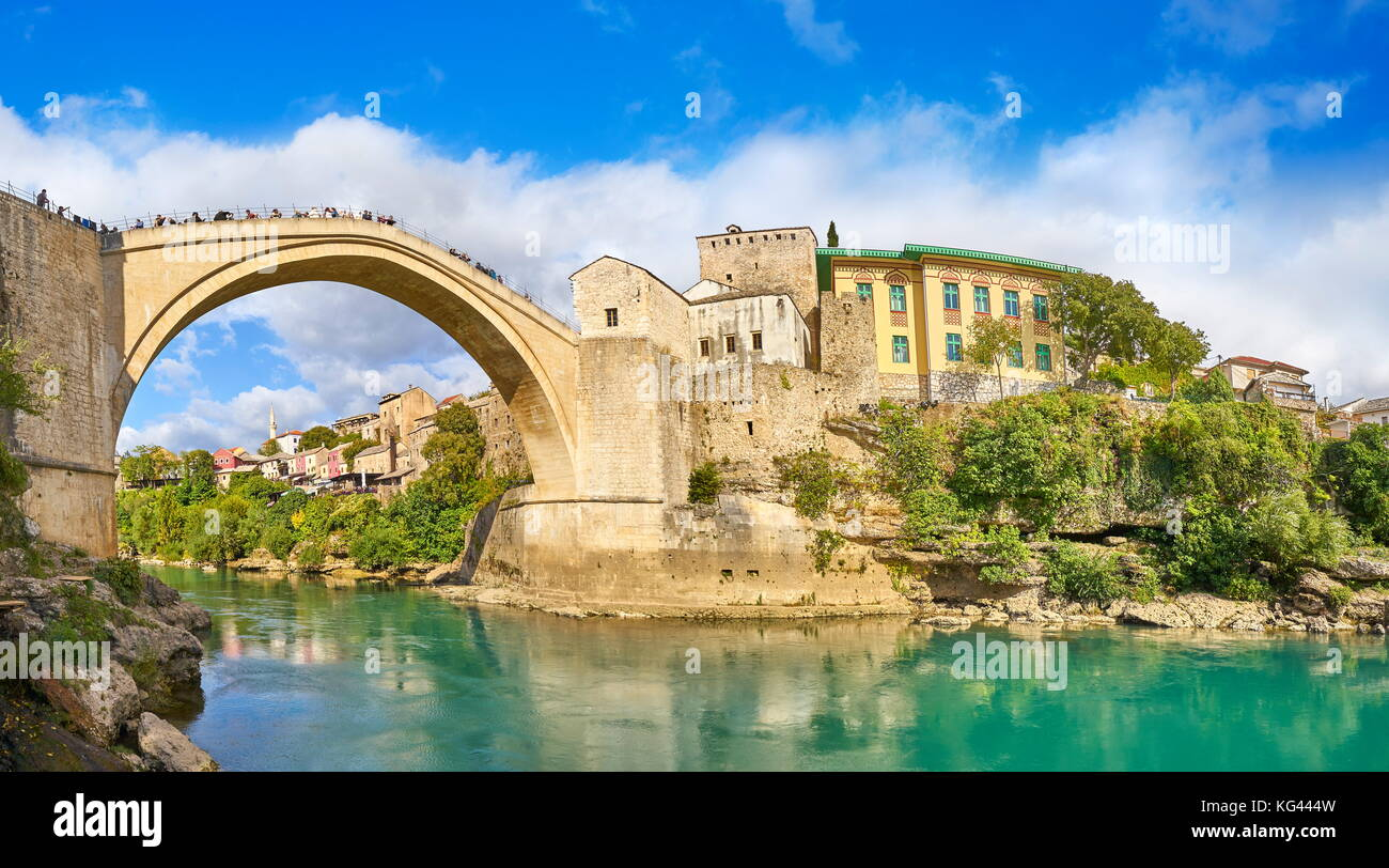 Stari Most or Old Bridge, Mostar, Bosnia and Herzegovina - Stock Image