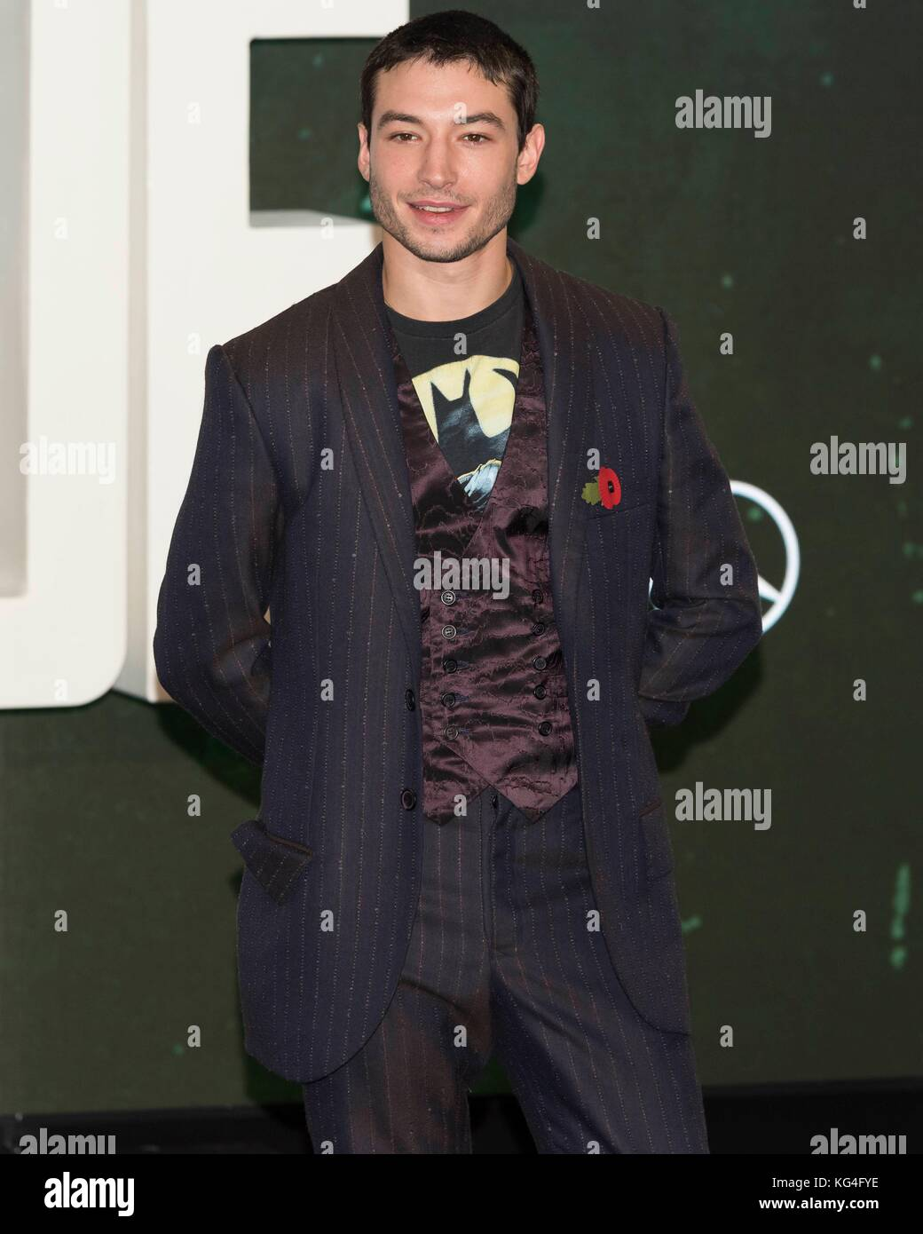 Ezra Miller attends photocall of JUSTICE LEAGUE. London, England, UK (04/11/2017) | usage worldwide - Stock Image