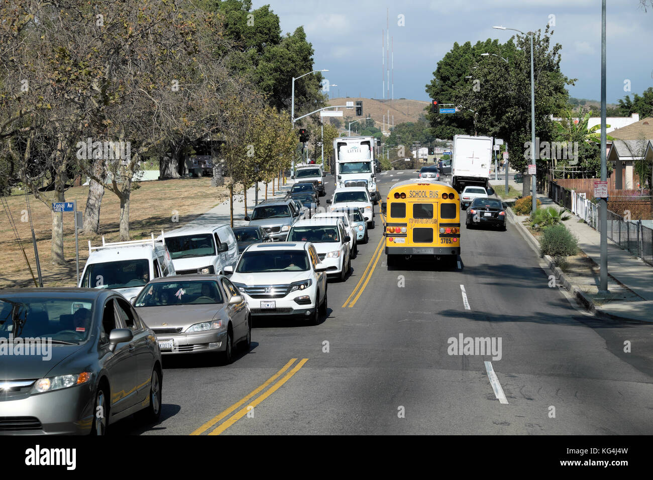Street scene in Highland Park, Los Angeles, California  USA   KATHY DEWITT - Stock Image