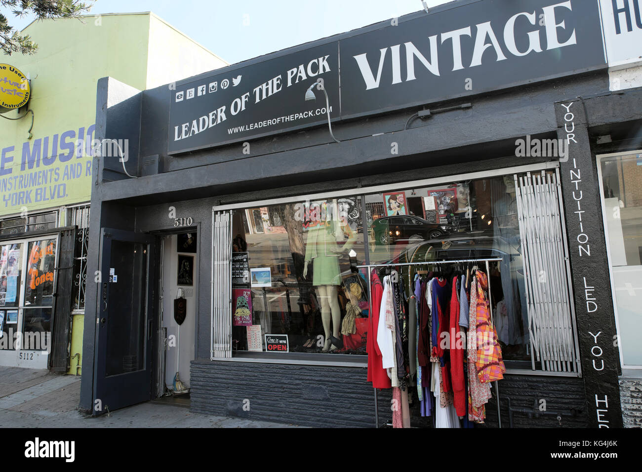 0d96a357694 Exterior view of 'Leader of the Pack' Vintage Clothing Store on York  Boulevard in