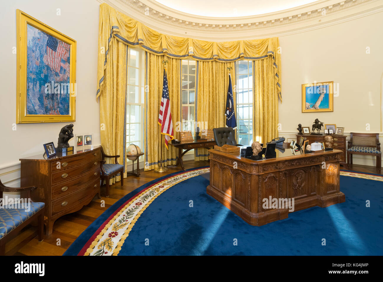 replica jfk white house oval office. Replica Of White House\u0027s Oval Office In William J. Clinton Presidential Center And Library Jfk House E