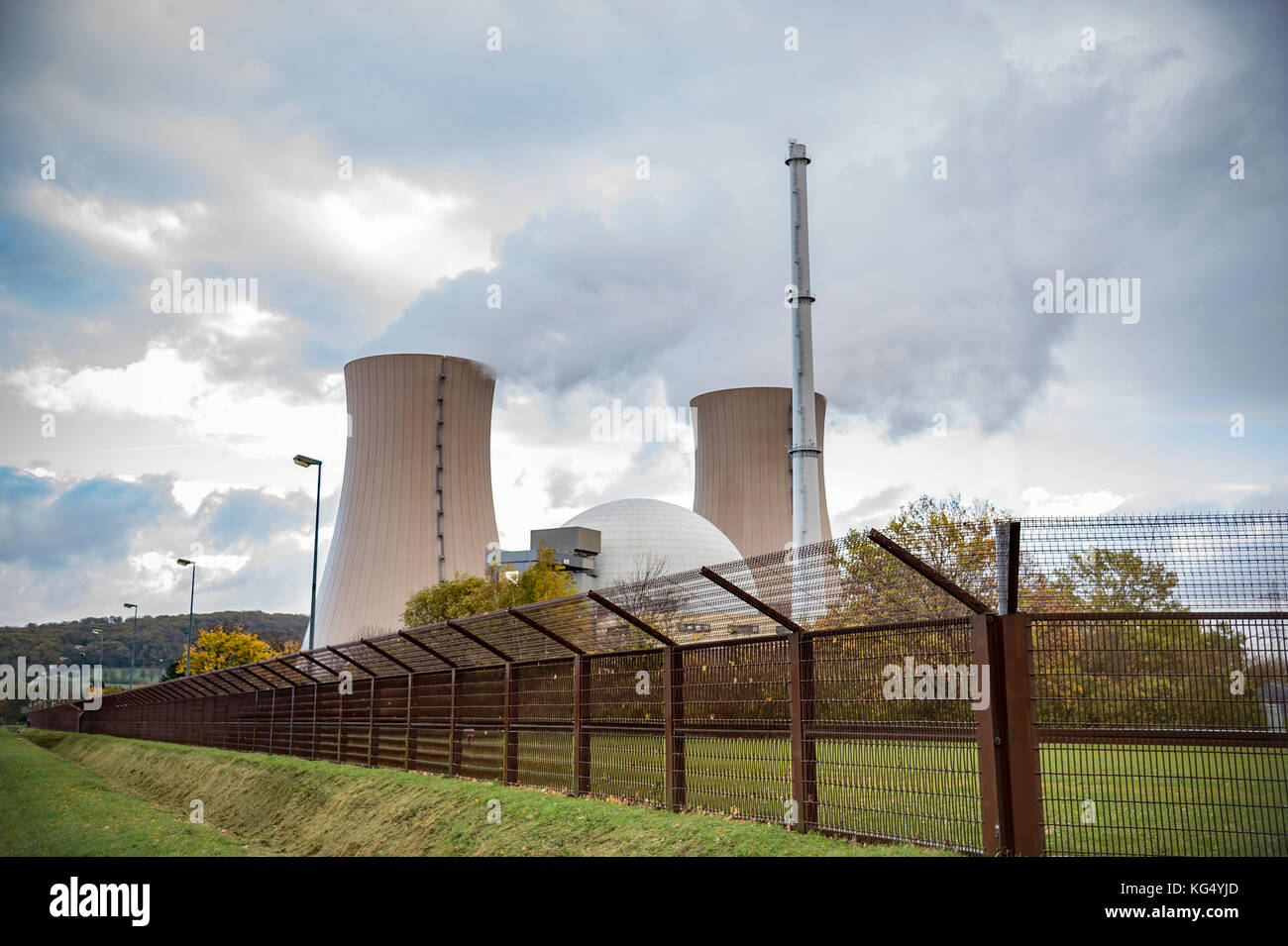 energy production with nuclear power - Stock Image