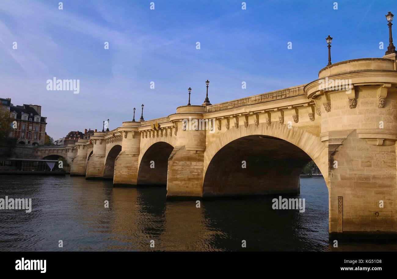 The pont Neuf , Paris, France. - Stock Image