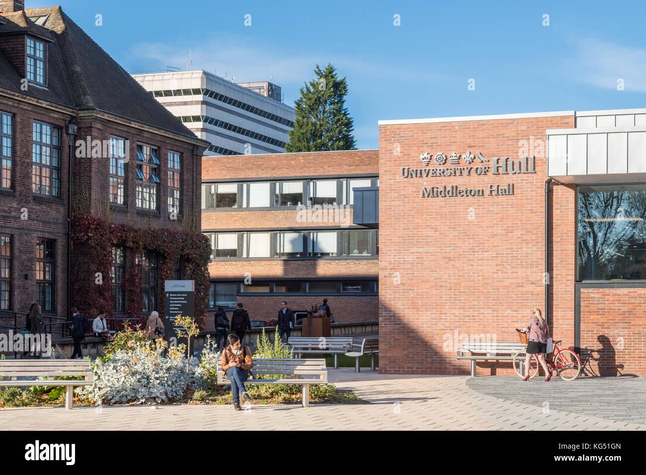 University of Hull, Kingston upon Hull, England,UK Stock Photo