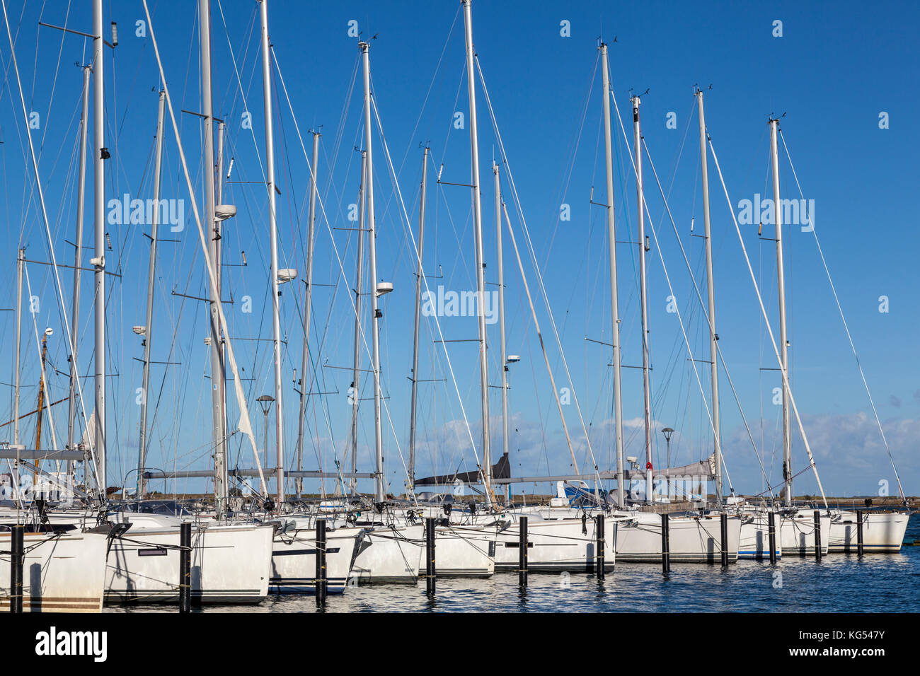 Bootshafen, Marina in Heiligenhafen,Deutschland Stock Photo