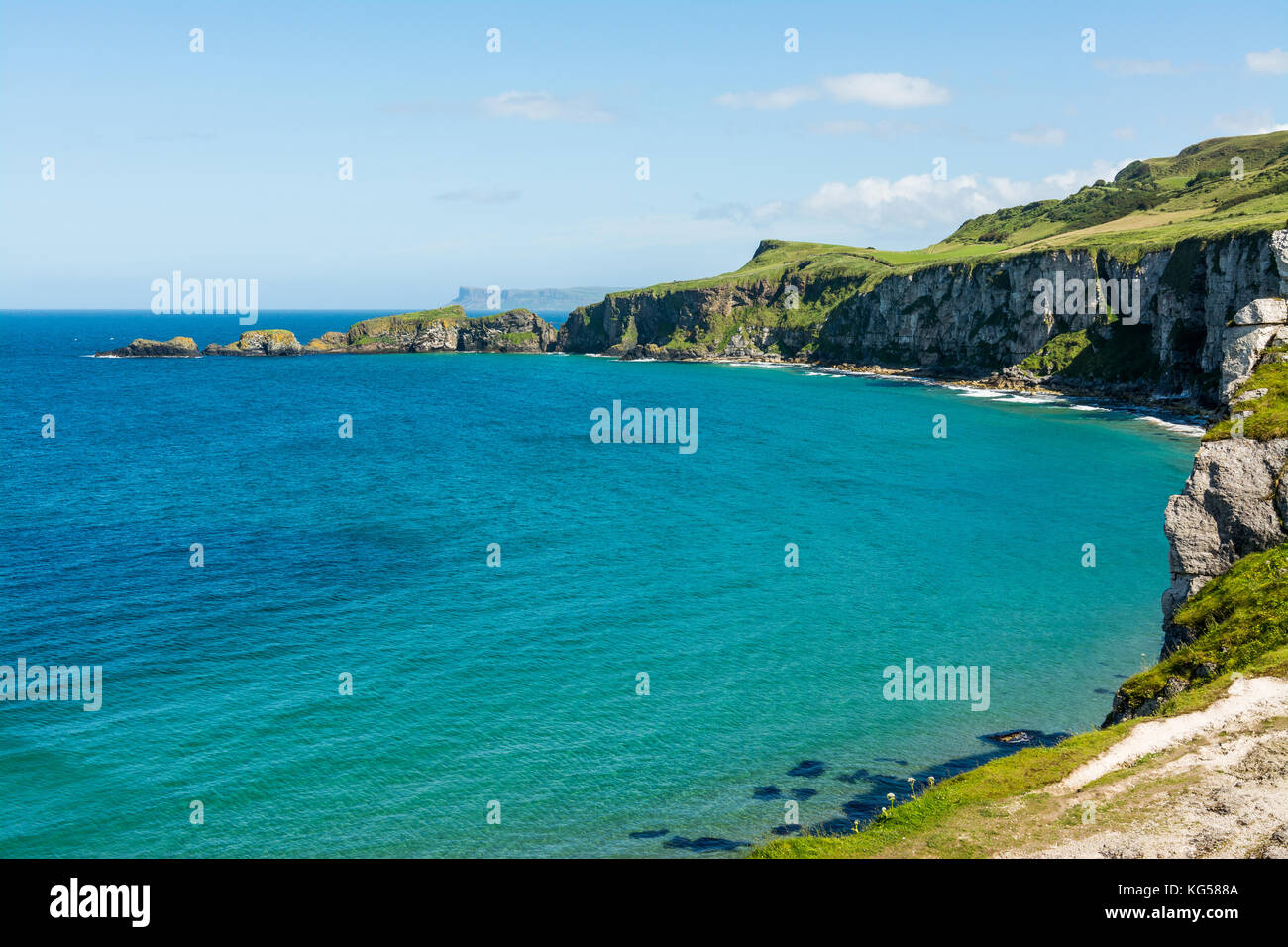 Landascapes of Ireland. Carrick-a-rede, Northern Ireland - Stock Image