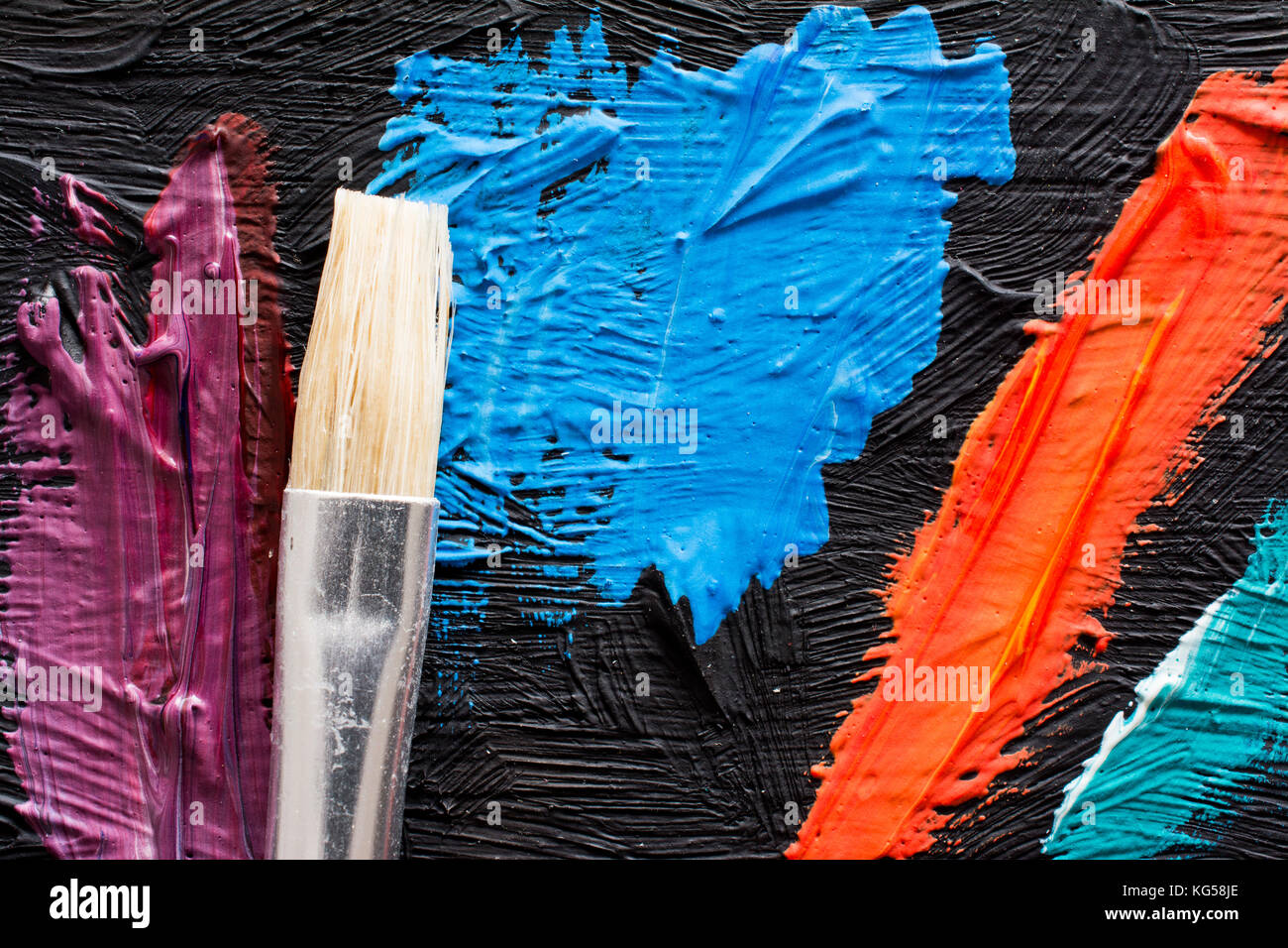 Abstract Painting Background With Paintbrush Wallpaper For