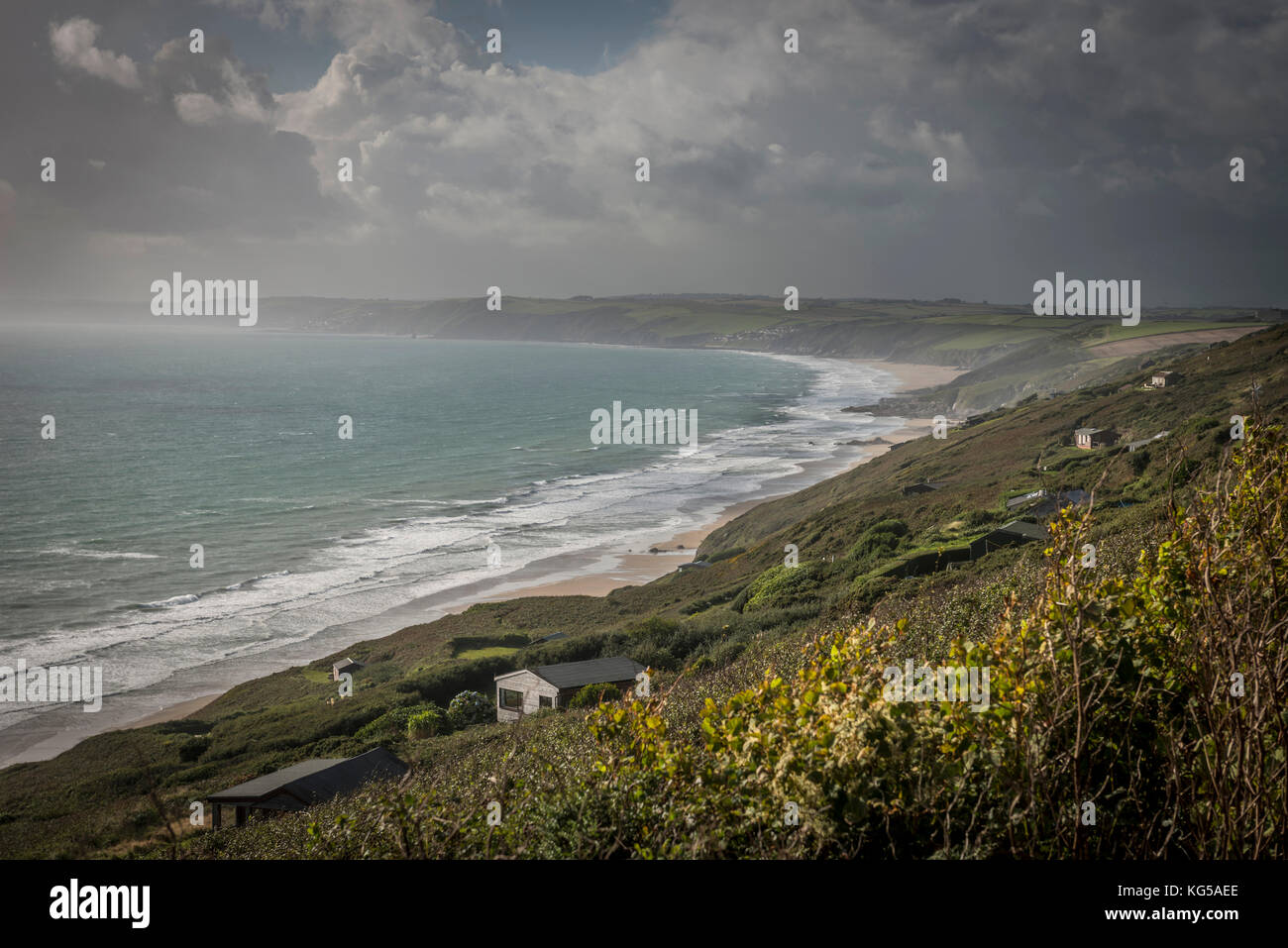 Whitsand Bay, Cornwall, UK - Stock Image