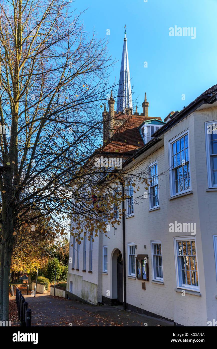 Market town of bishops stortford, hertfordshire, england. uk, gb, europe Stock Photo