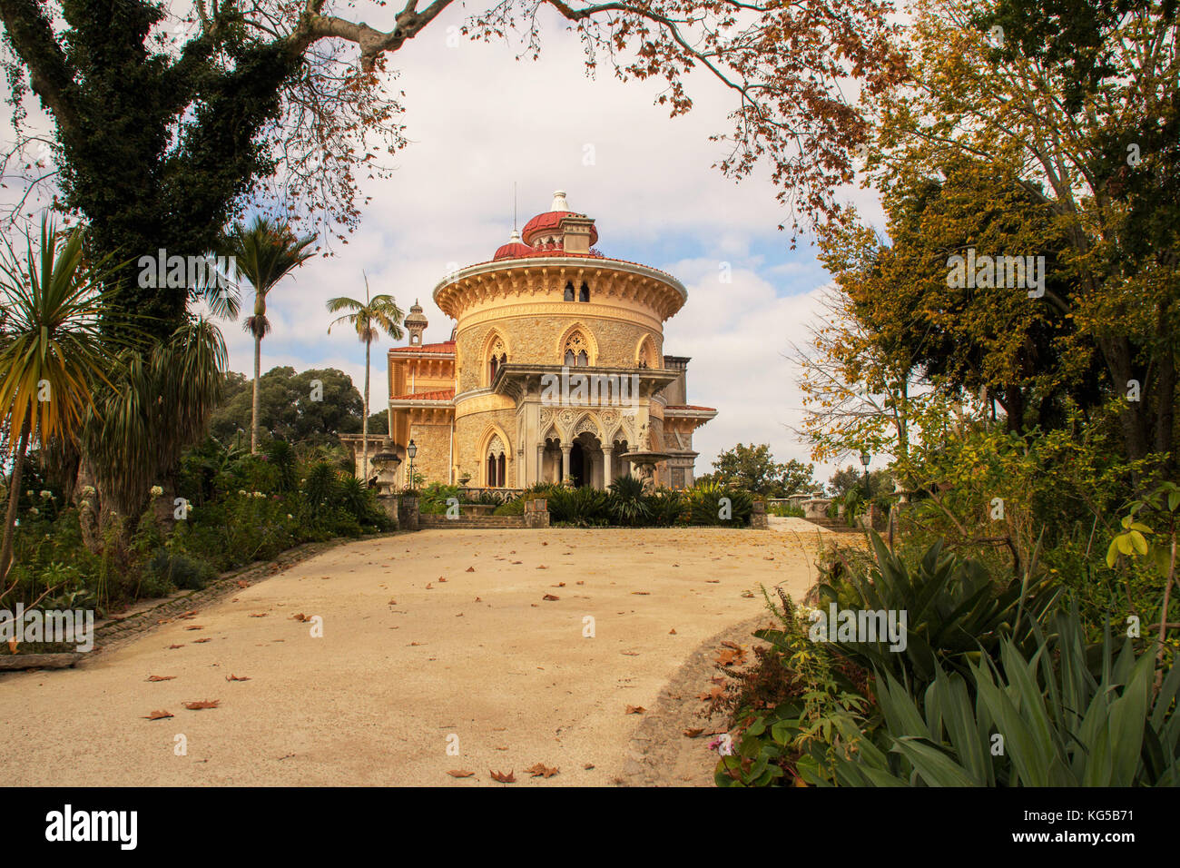 The Palace of Monserratte Sintra Portugal - Stock Image