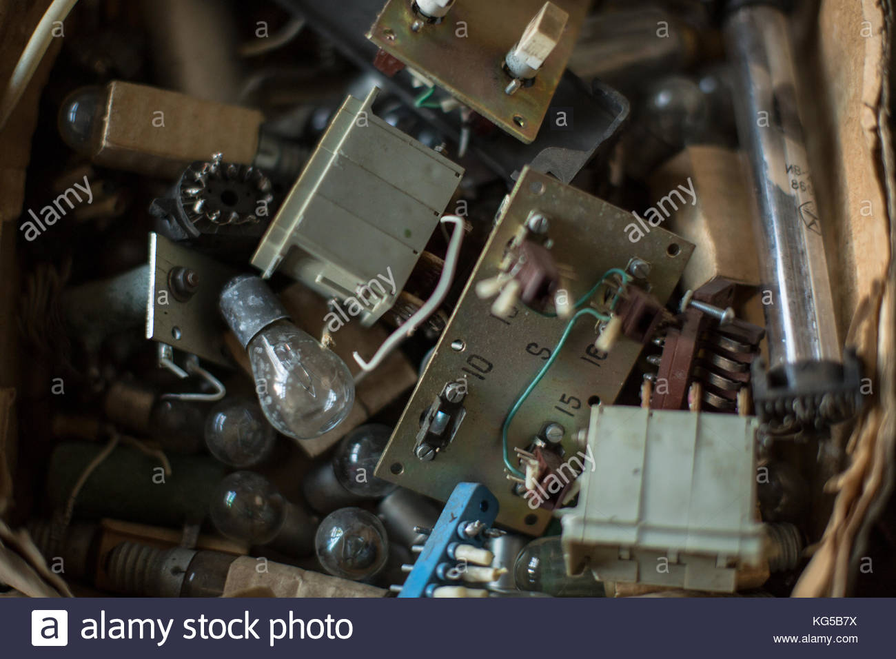 Computer chips background - Stock Image