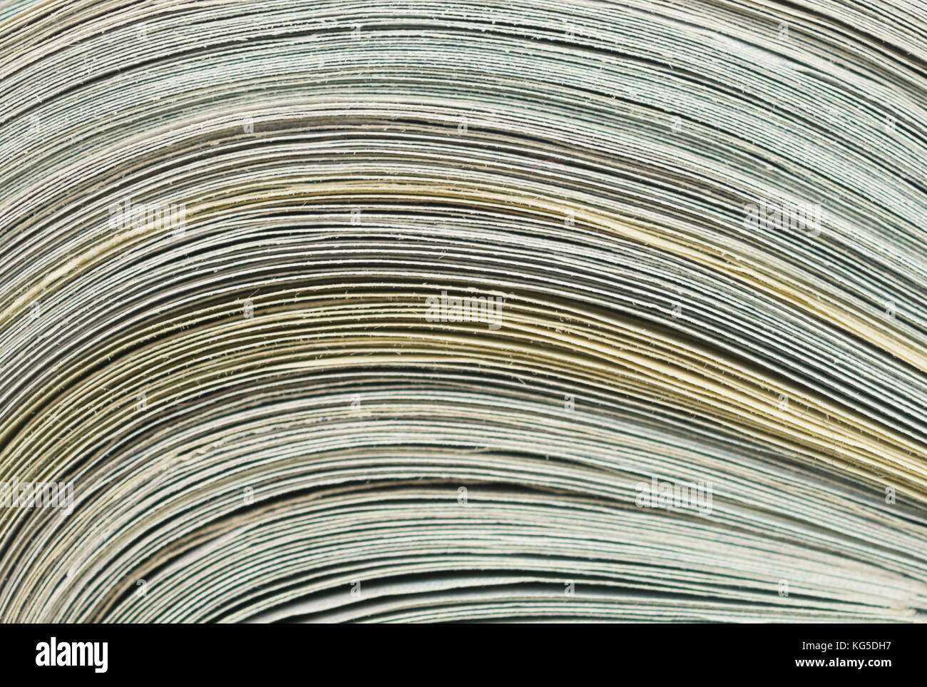 close up of paper, dollars roll - Stock Image