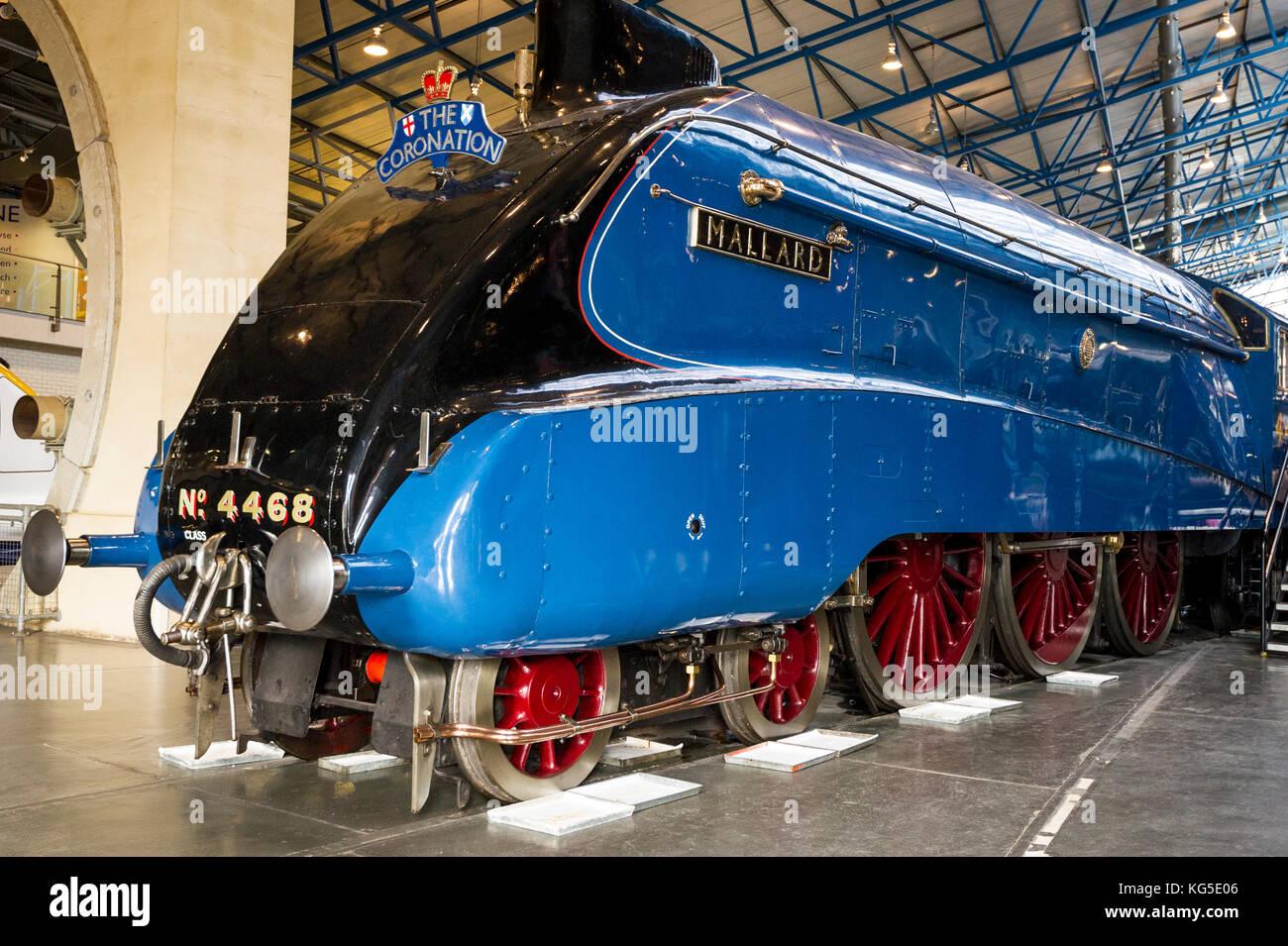Mallard at the National Railway Museum in York, UK - Stock Image