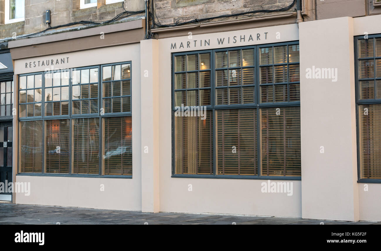 The Front Of Martin Wishart A Fine Dining Michelin Starred Stock Photo Alamy