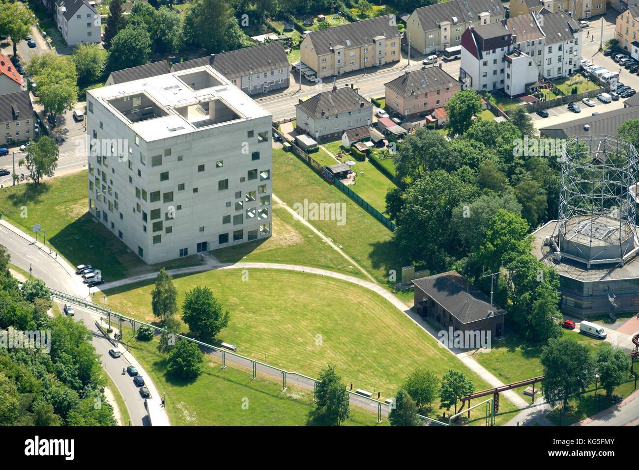 Folkwang Universität der Künste, SANAA-building, Zollverein Coal Mine Industrial Complex, Essen, North - Stock Image