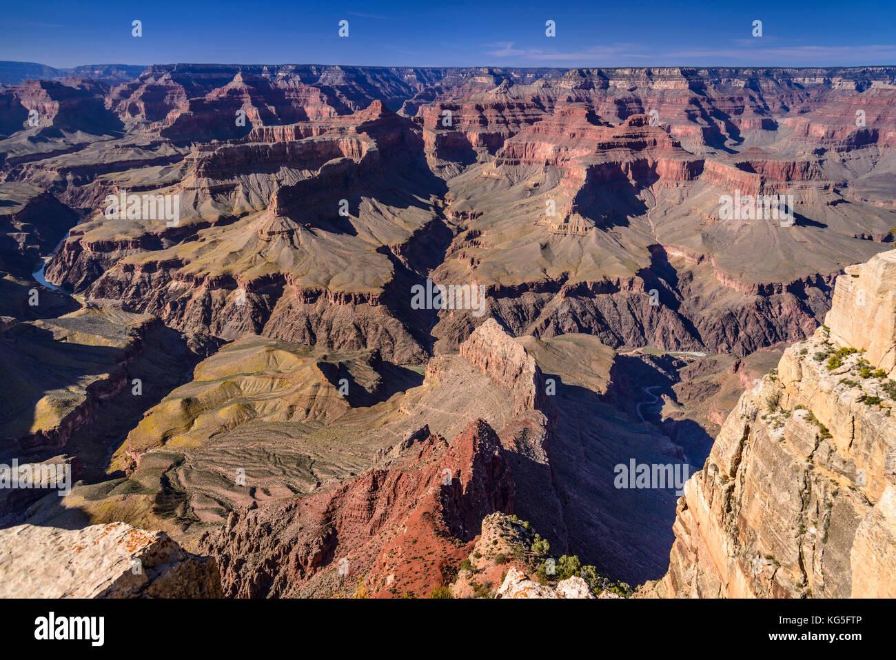 The USA, Arizona, Grand canyon National Park, South Rim, Pima Point - Stock Image