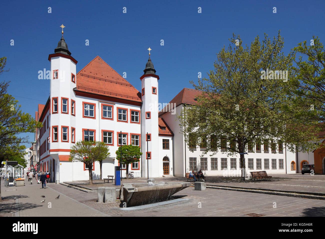 Amtsgericht (court), Franziskanerplatz (square), Ingolstadt, Upper Bavaria, Bavaria, Germany, Europe Stock Photo