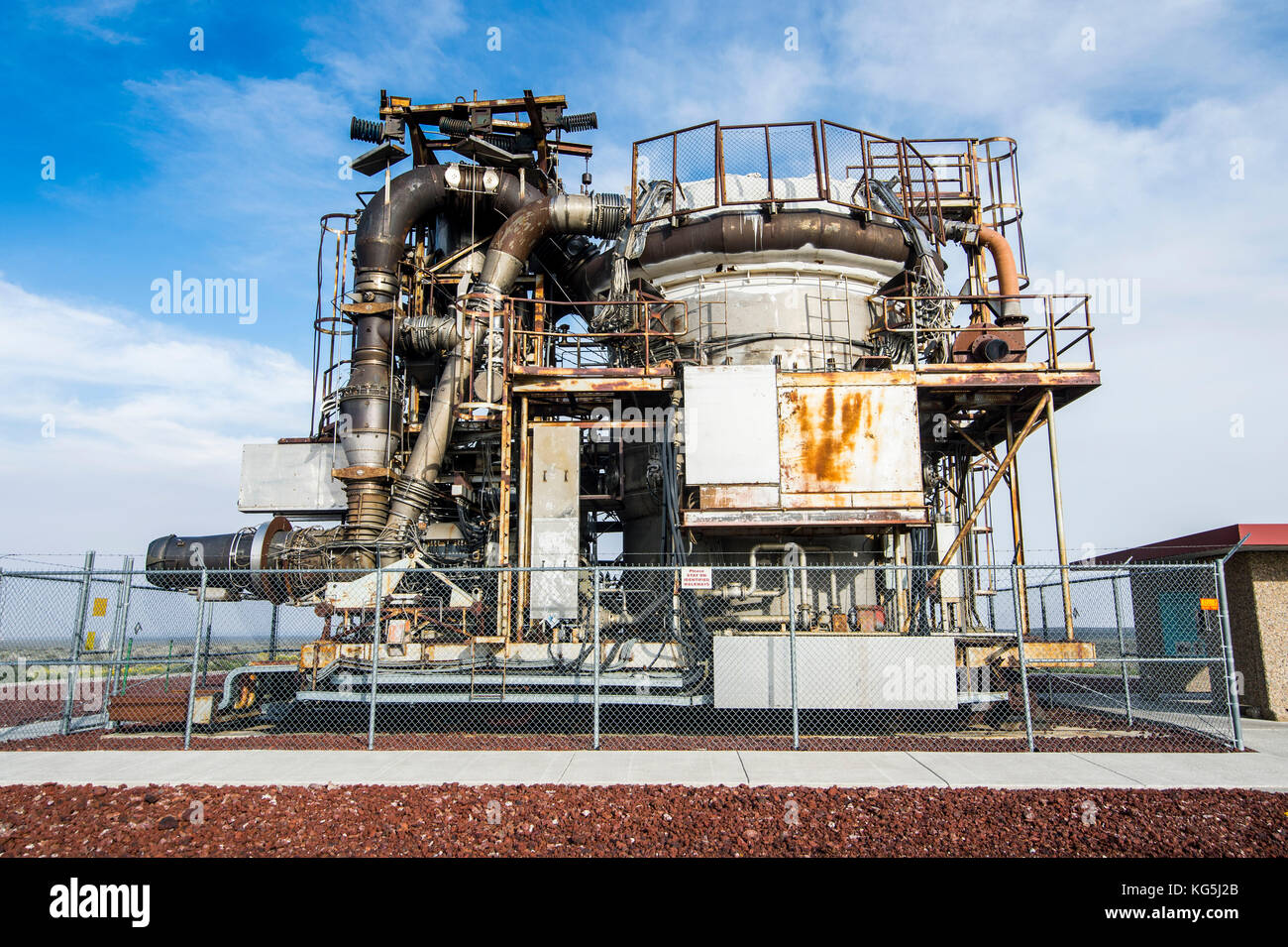 Experimental Breeder Reactor I (EBR-I) the world's first electricity-generating nuclear power plant, Arco, Idaho, - Stock Image