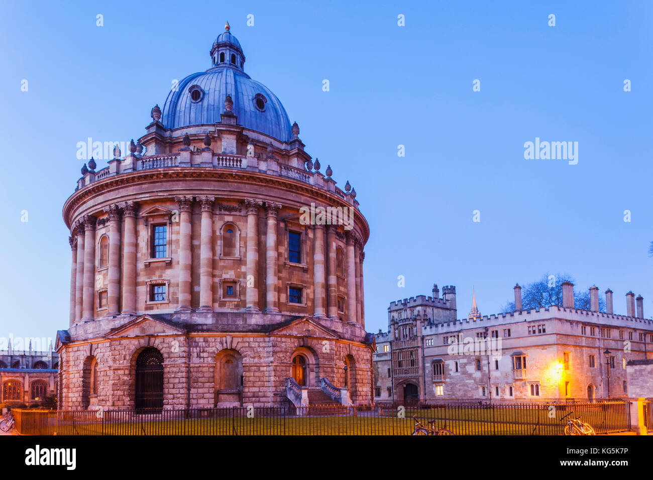England, Oxfordshire, Oxford, Oxford University, Bodleian Library, Radcliiffe Camera - Stock Image