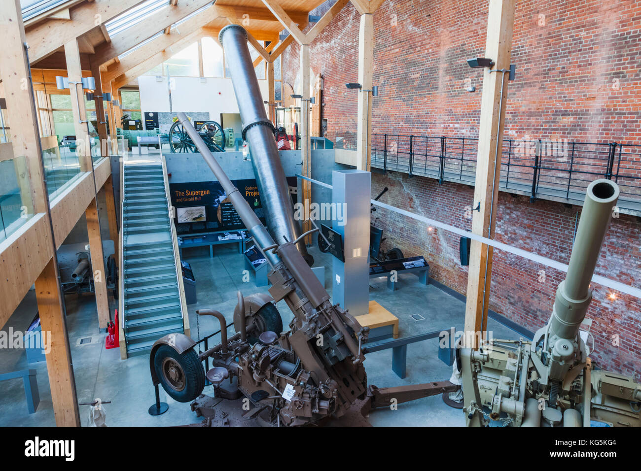 England, Hampshire, Portsmouth, The Royal Amouries Military Museum Fort Nelson, Interior View - Stock Image