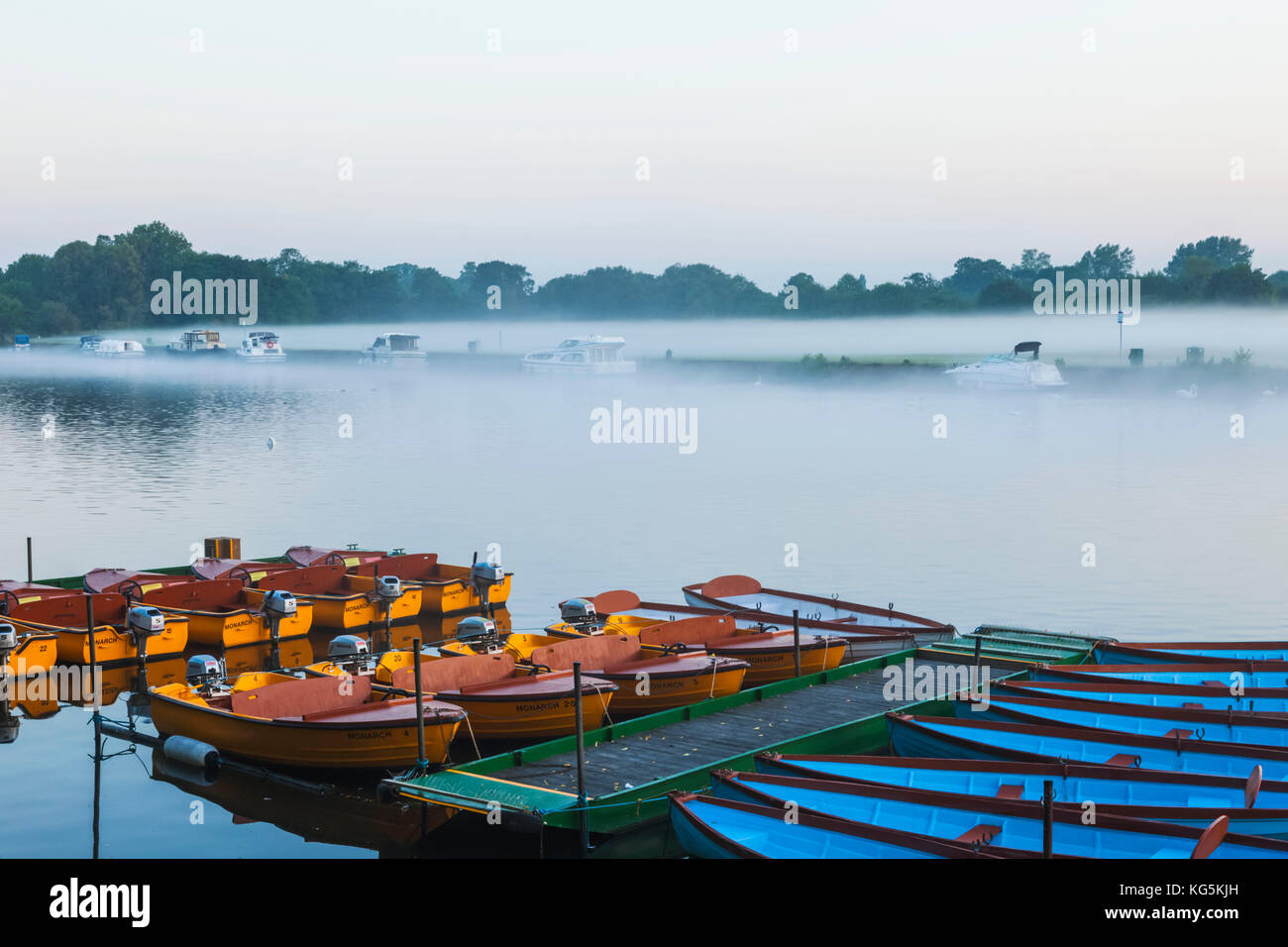 England, Berkshire, Windsor, Rowing Boats - Stock Image