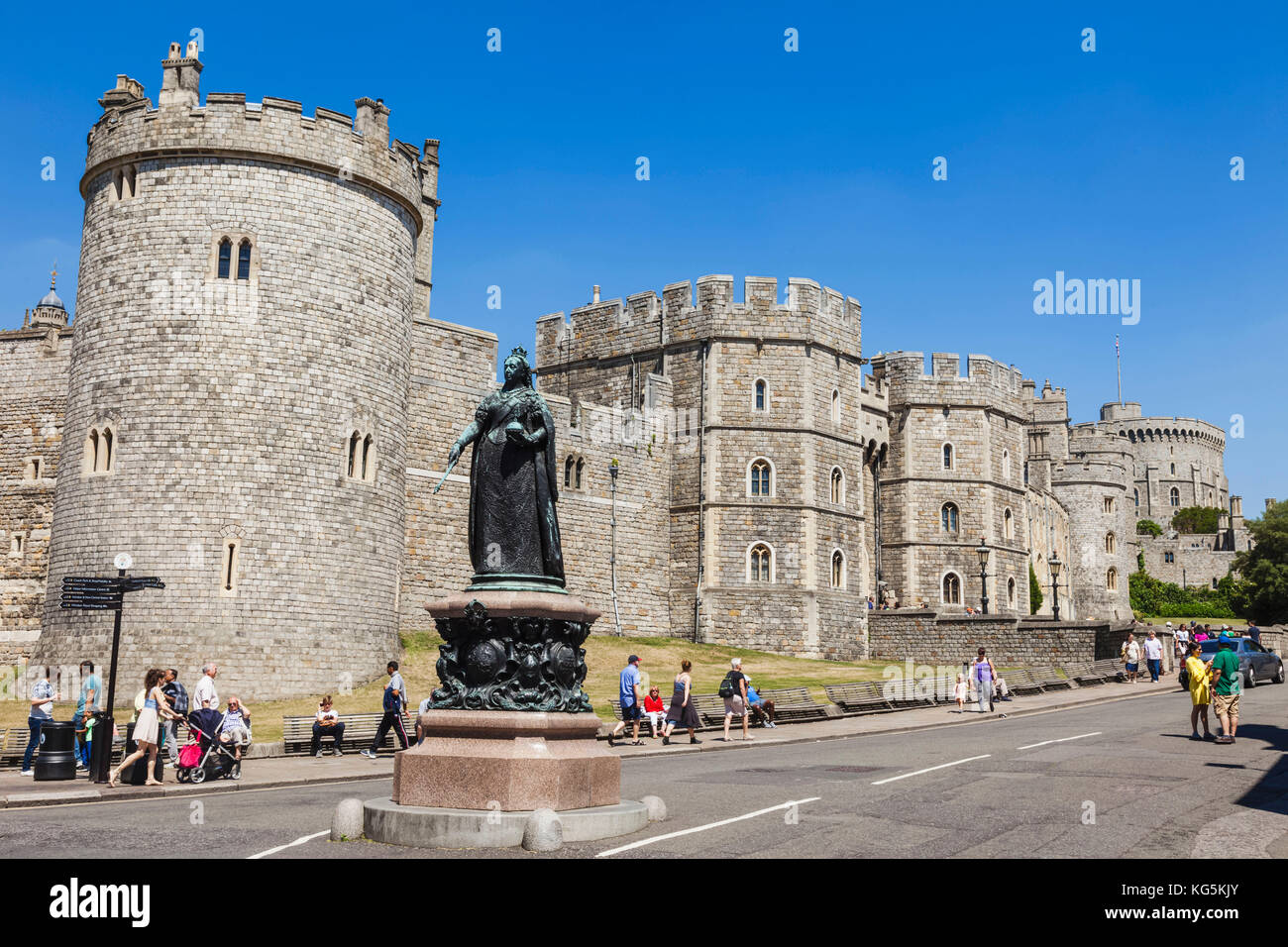 England, Berkshire, Windsor, Windsor Castle - Stock Image