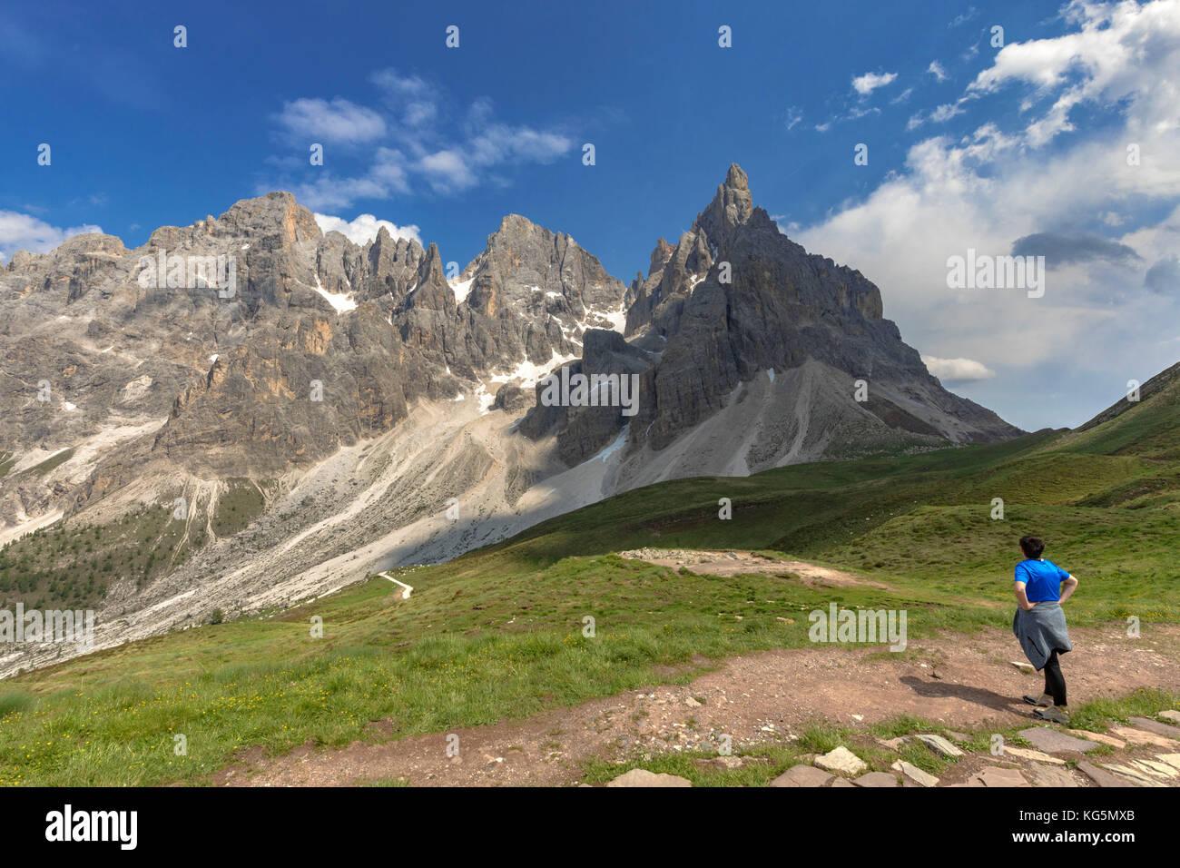 Passo Rolle, San Martino di Castrozza Village, Trento district, Trentino Alto Adige, Italy Stock Photo