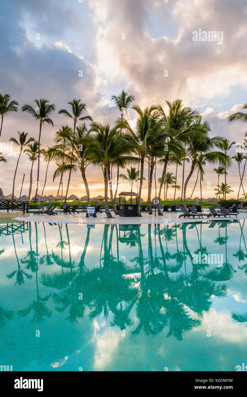 Bavaro Beach, Bavaro, Higuey, Punta Cana, Dominican Republic. Beach resort. Stock Photo