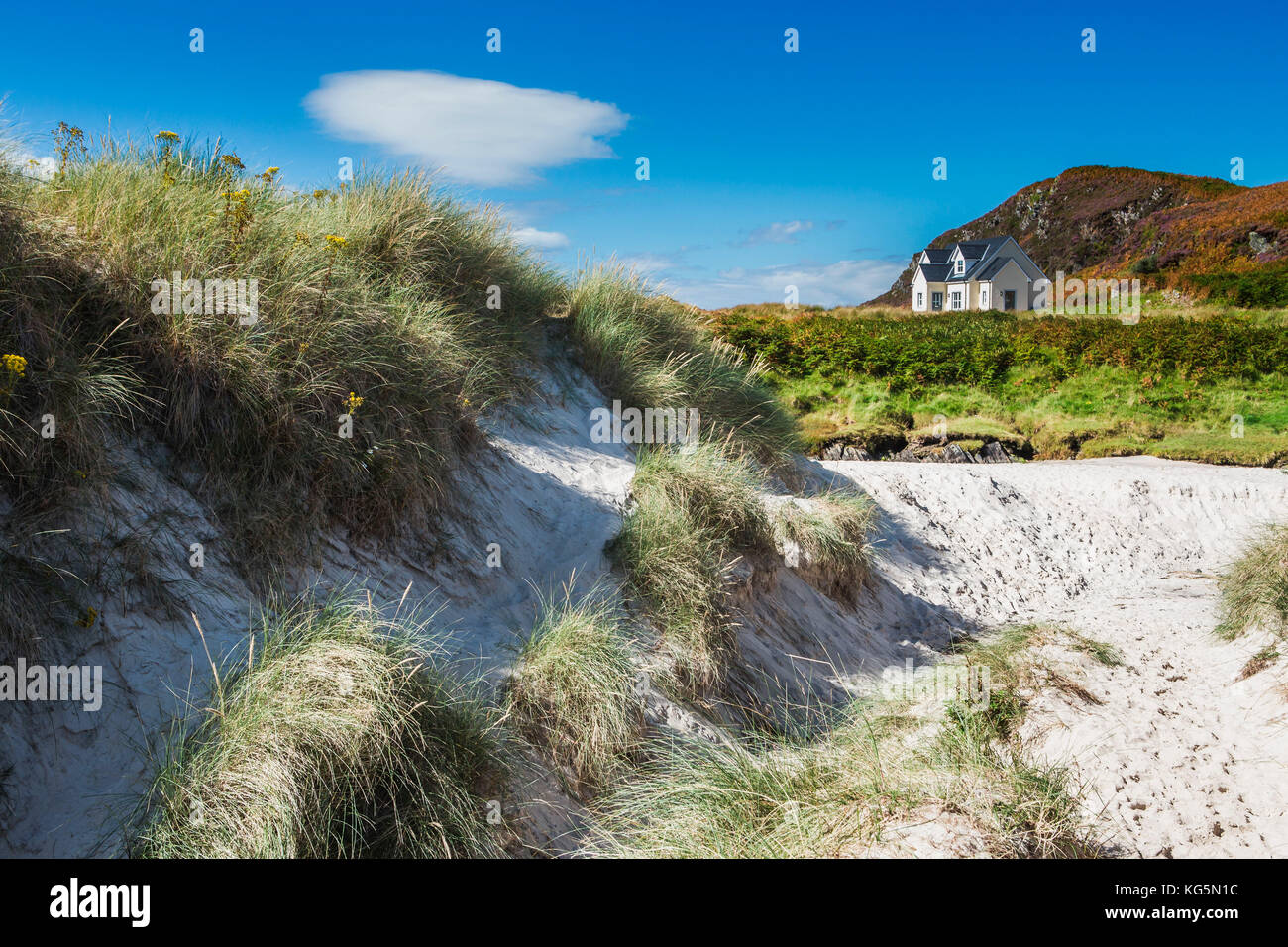 Lonely cottage on the North West Highlands of Scotland. - Stock Image