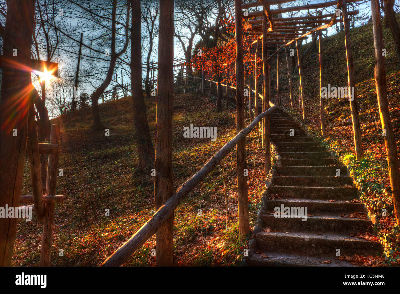 The ornithological station of Costa Perla. Barro mount park, Lecco province, Brianza, Lombardy, Italy, Europe - Stock Image