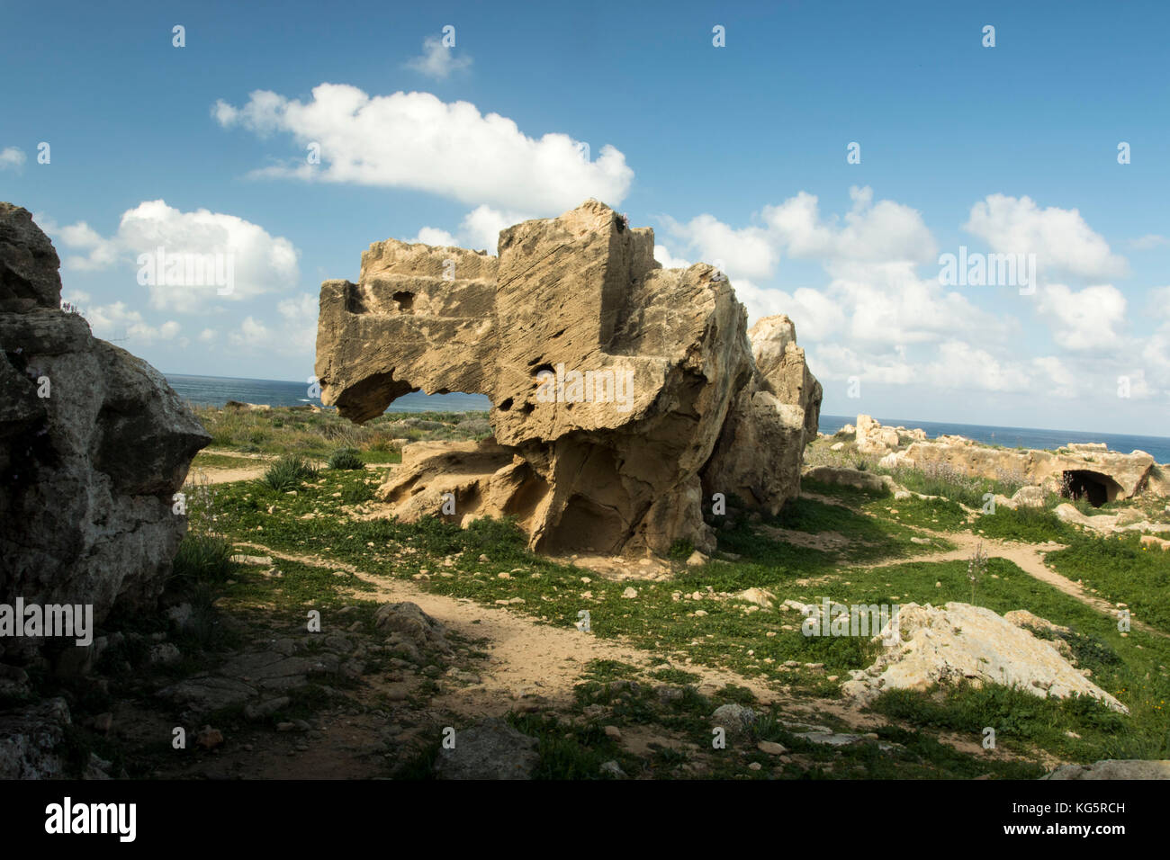 Rock outcrop, valley of the kings, Paphos - Stock Image