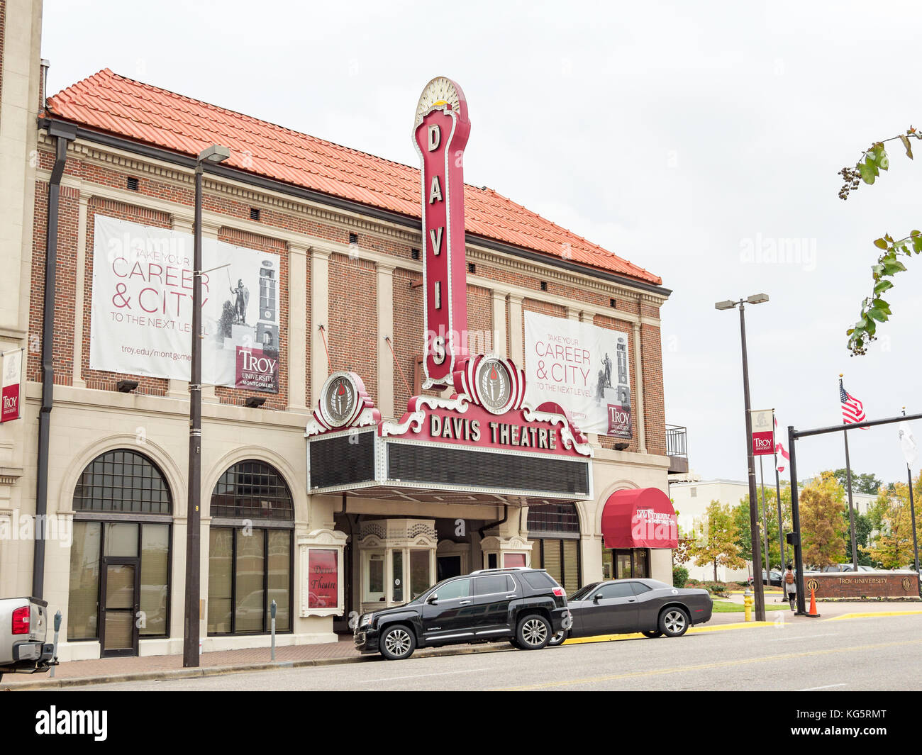 Davis Theater, formerly The Paramount Theater of 1930, purchased by Troy University in downtown, Montgomery Alabama - Stock Image