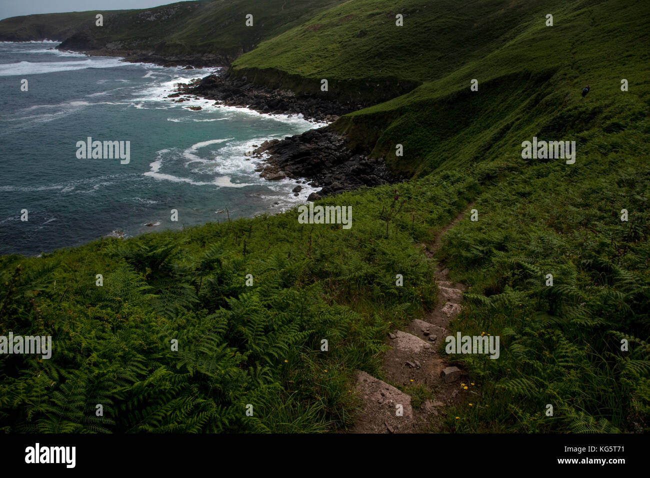 The National South West Coastal Path above Zennor, Cornwall, England. - Stock Image
