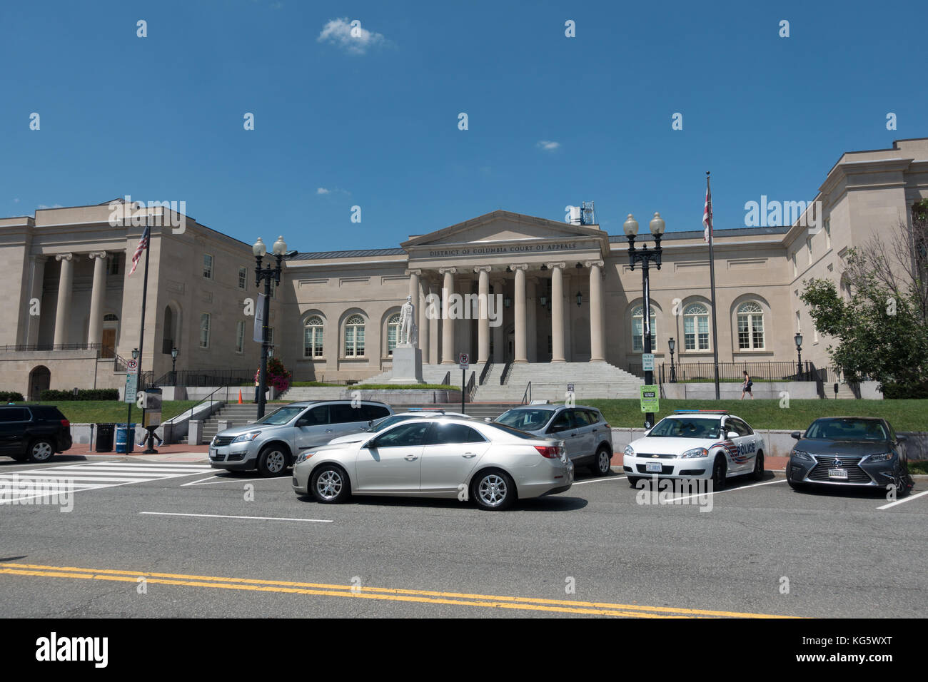 The District of Columbia Court of Appeals Building in Washington DC, United States. Stock Photo