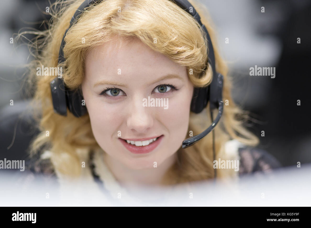Girl Business Office Portrait Smiling Team Stock Photos