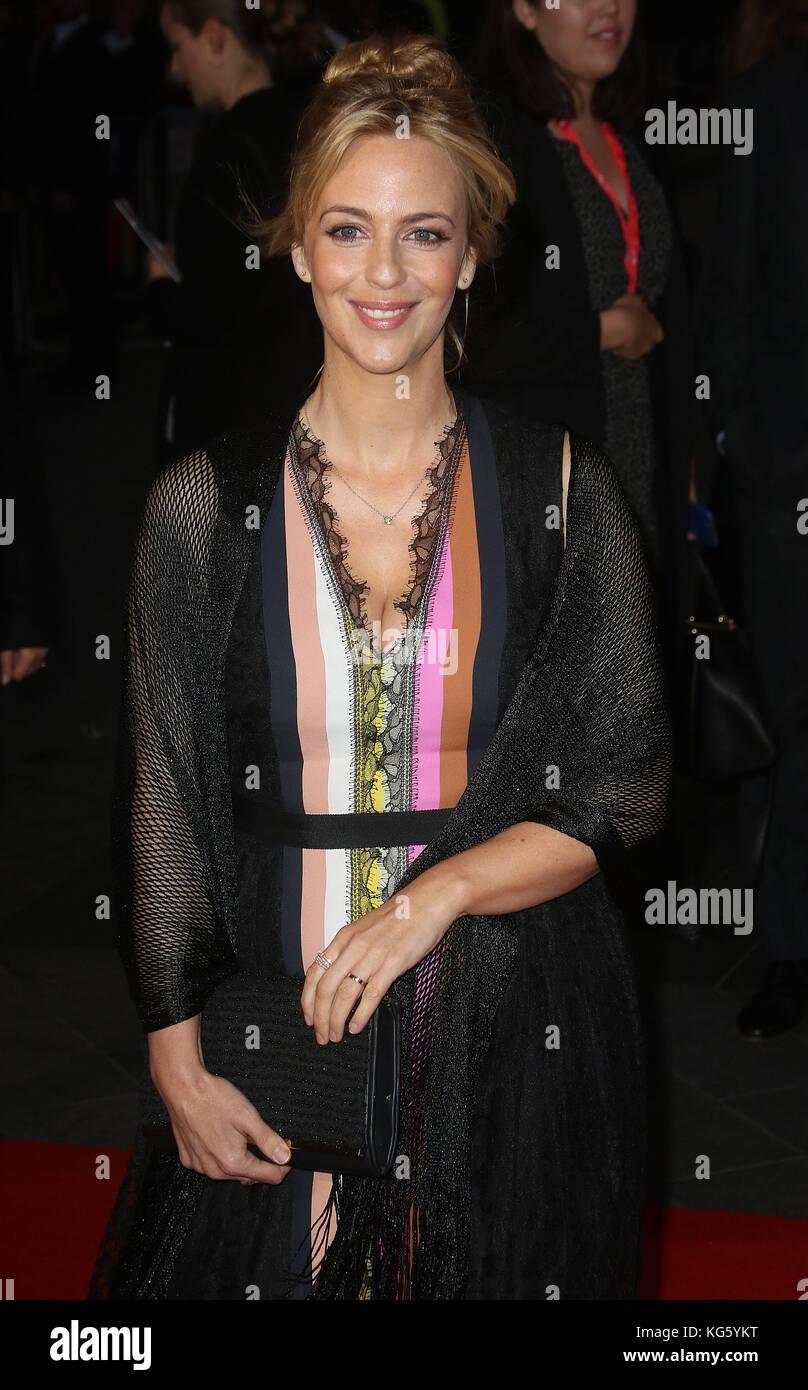 Oct 04, 2017 - Miranda Raison attending 'Breathe' European Premiere, Odeon Leicester Square in London, England, - Stock Image