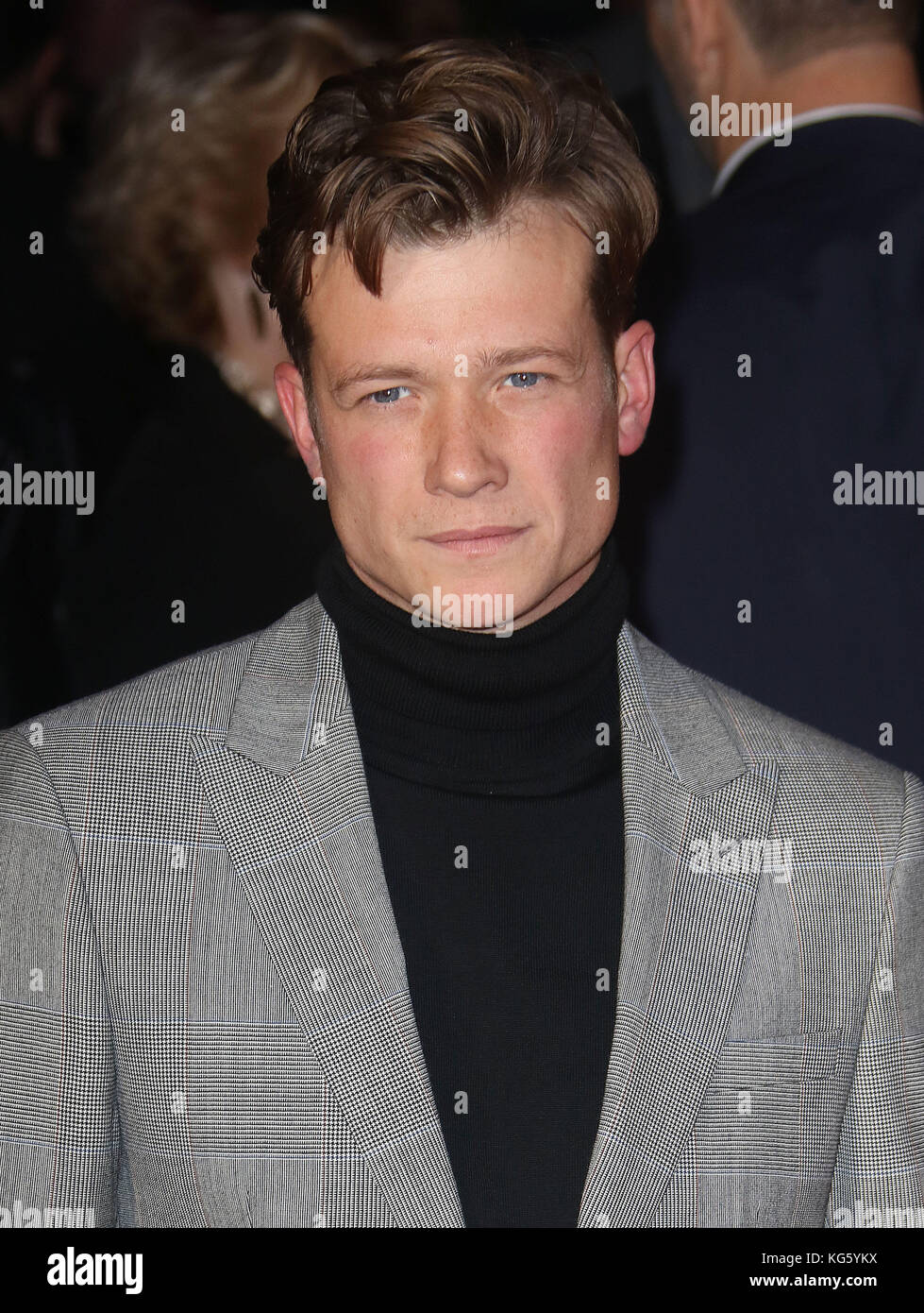 Oct 04, 2017 - Ed Speleers attending 'Breathe' European Premiere, Odeon Leicester Square in London, England, - Stock Image