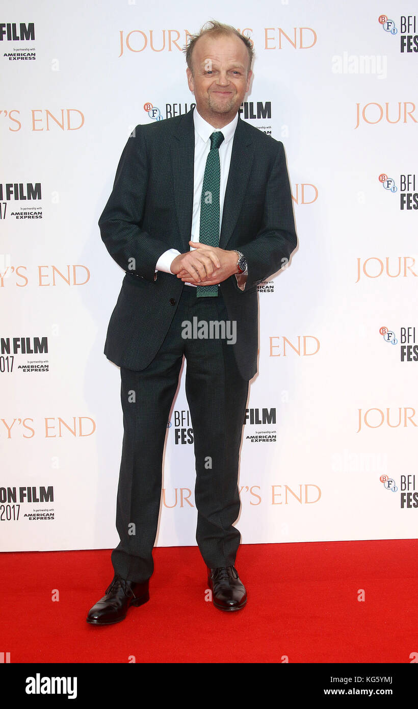 Oct 06, 2017 - Toby Jones attending 'Journey's End' European Premiere, Odeon Leicester Square in London, - Stock Image