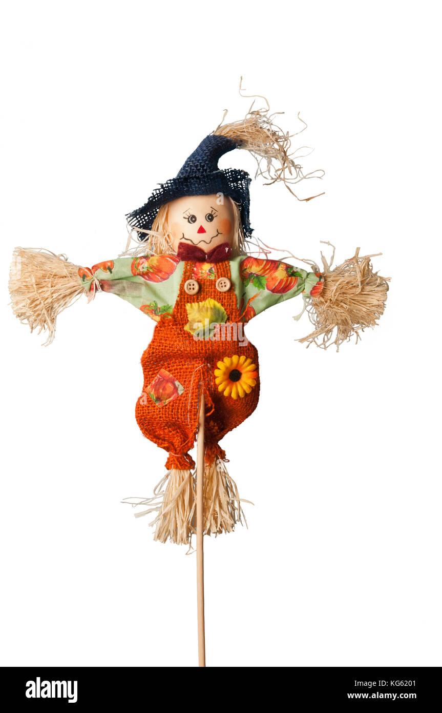 scarecrow isolated - Stock Image