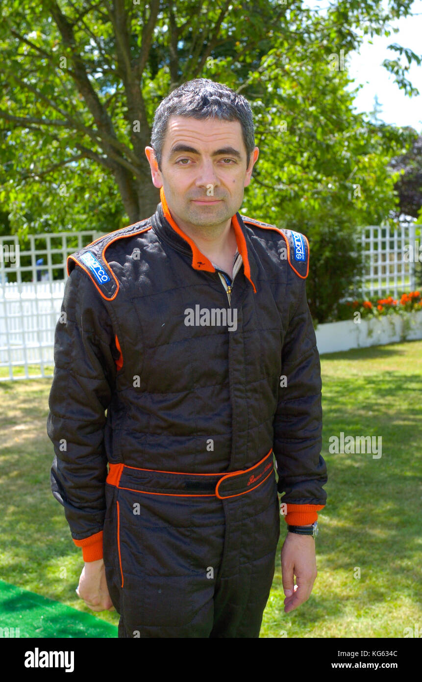 Rowan Atkinson aka Mr Bean at the Festival of Speed, Sussex, England UK 2004 - Stock Image
