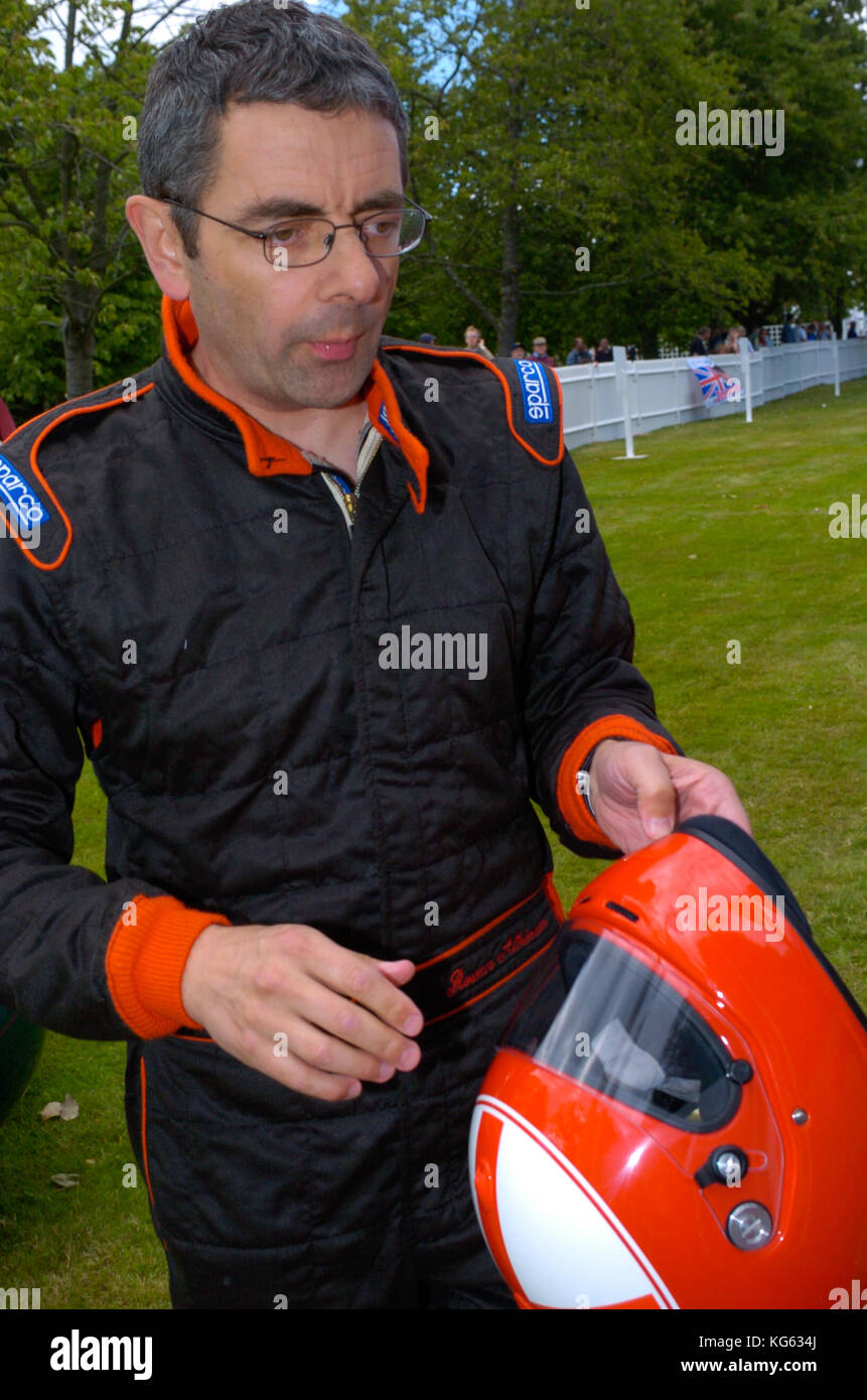 Rowan Atkinson aka Mr Bean at the Goodwood Festival of Speed, Sussex, England UK 2004 - Stock Image