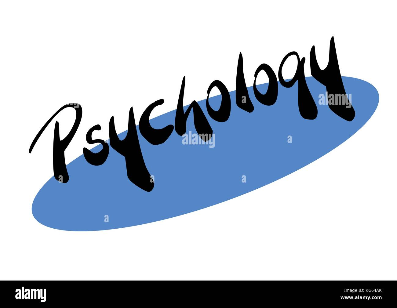 Psycology with blue ellipse - Stock Vector
