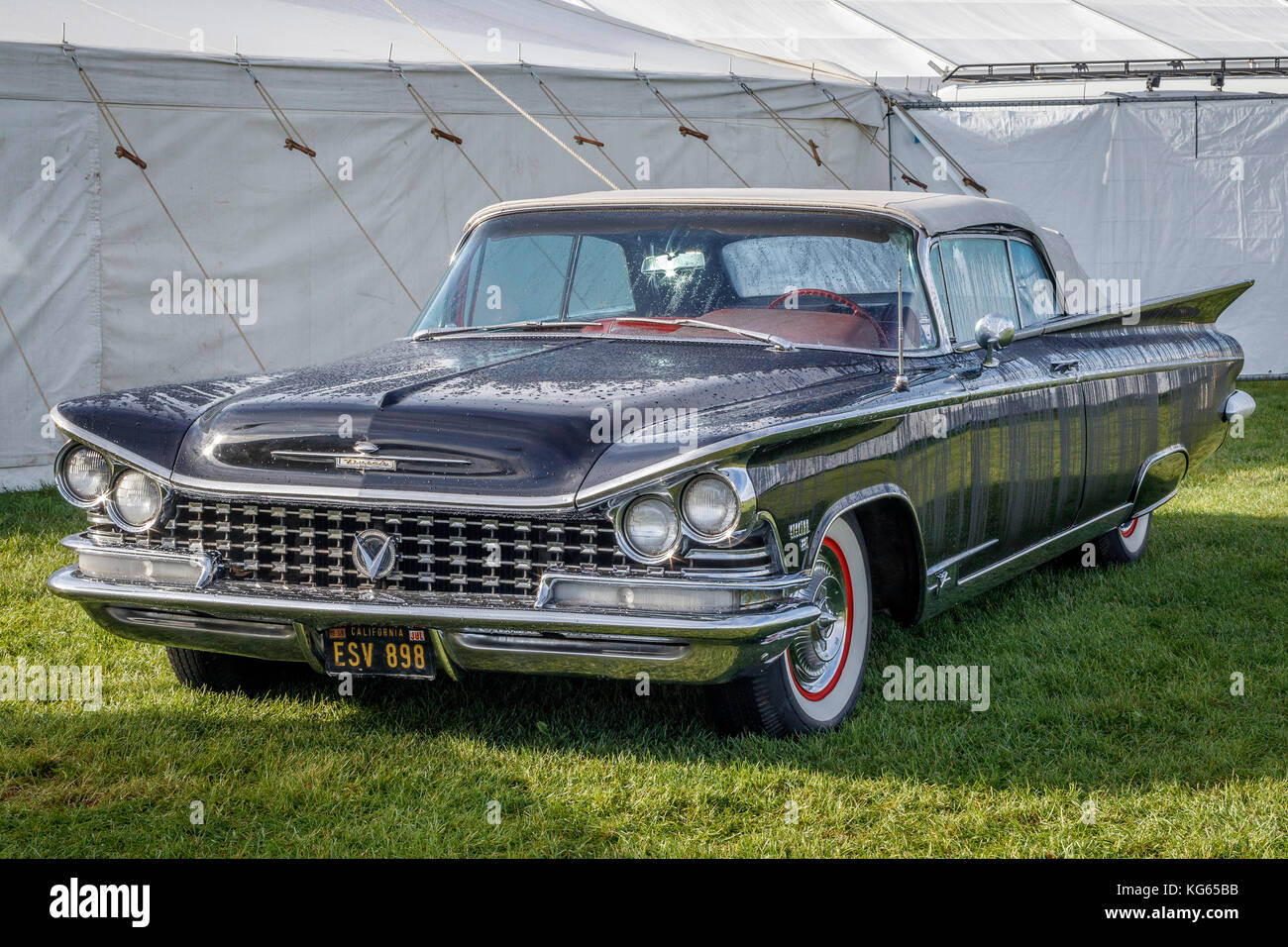 1959 Buick Electra 225 two door, soft top, on display at the 2017 Goodwood Revival, Sussex, UK. - Stock Image