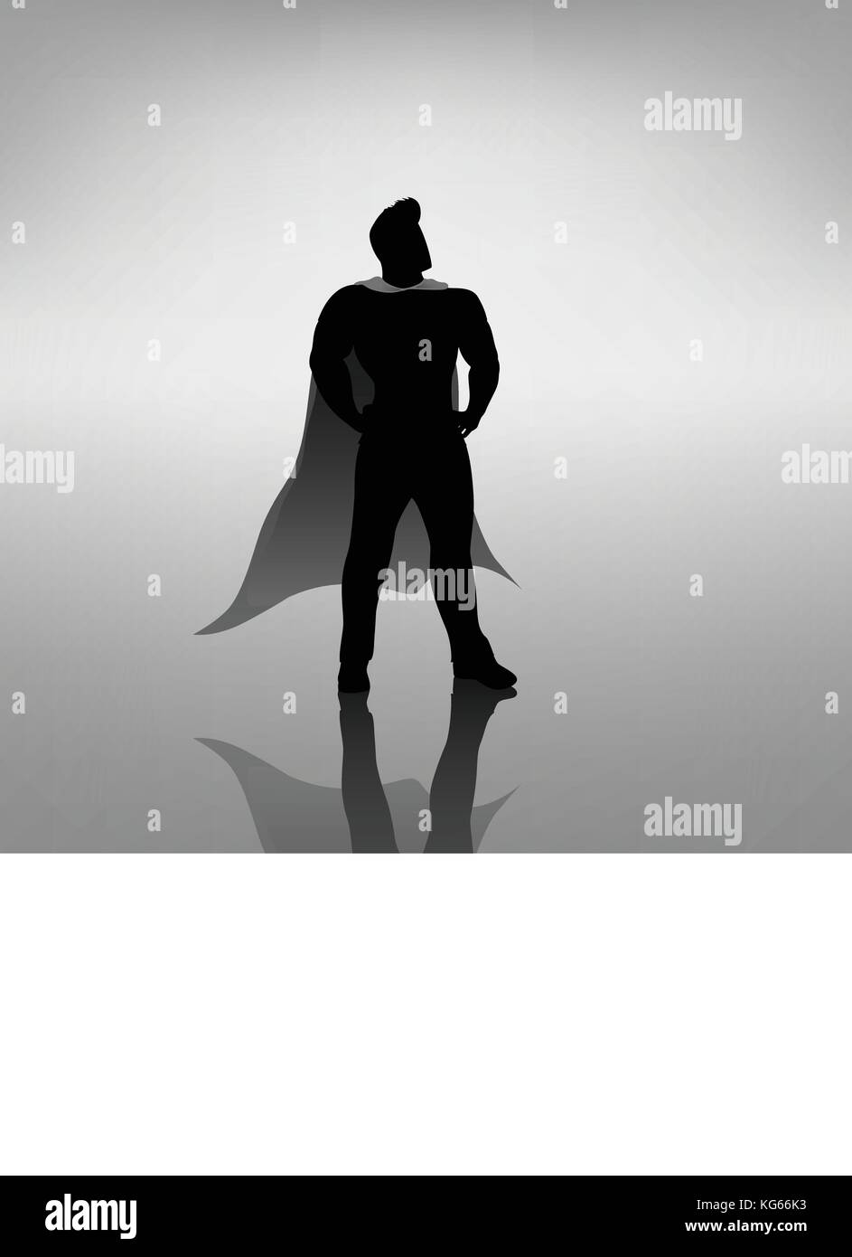 super hero silhouette - Stock Image