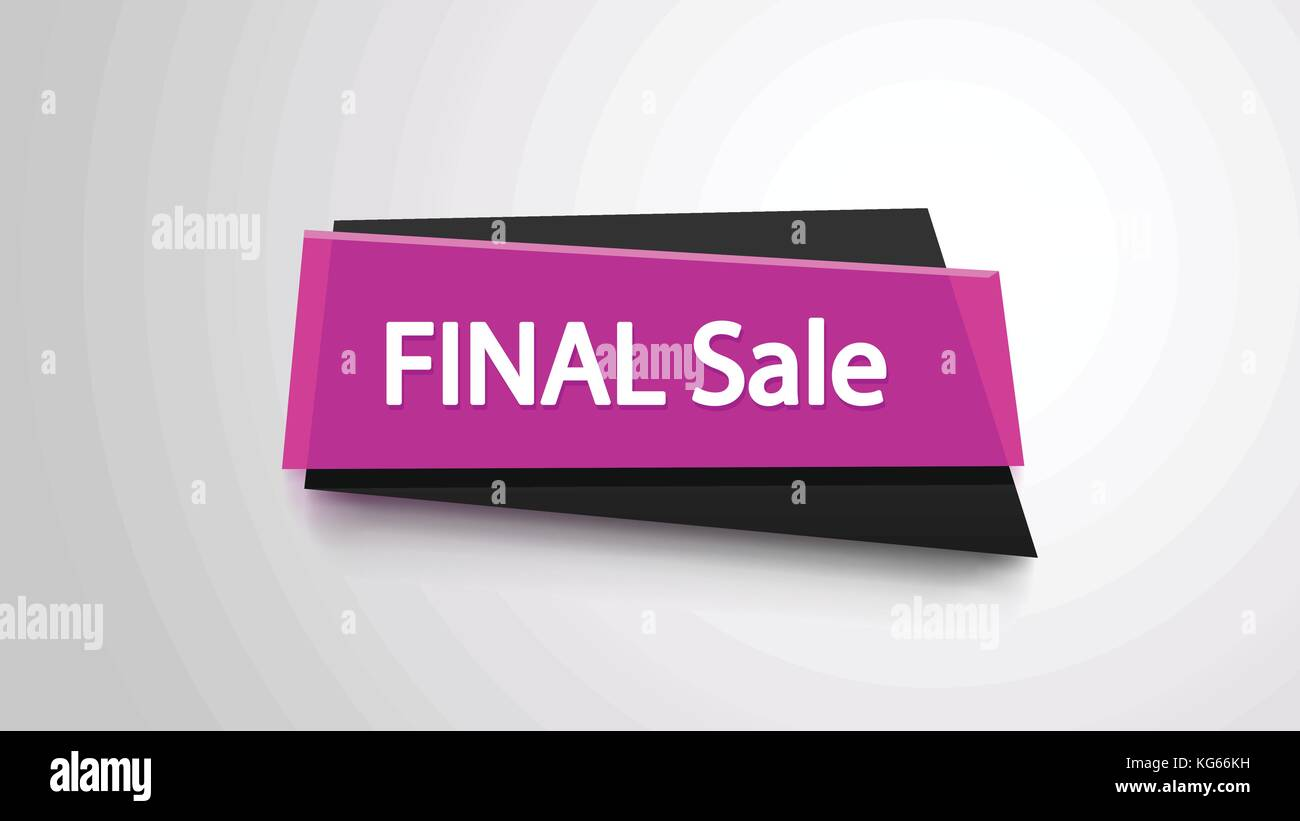 pink final sale banner - Stock Vector
