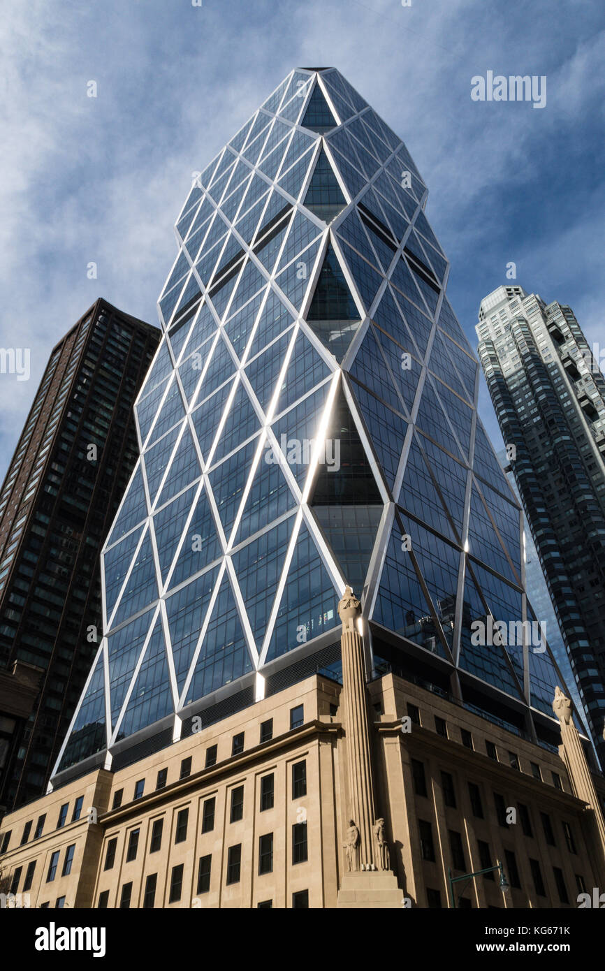 Hearst Tower, 300 W. 57th Street, NYC - Stock Image