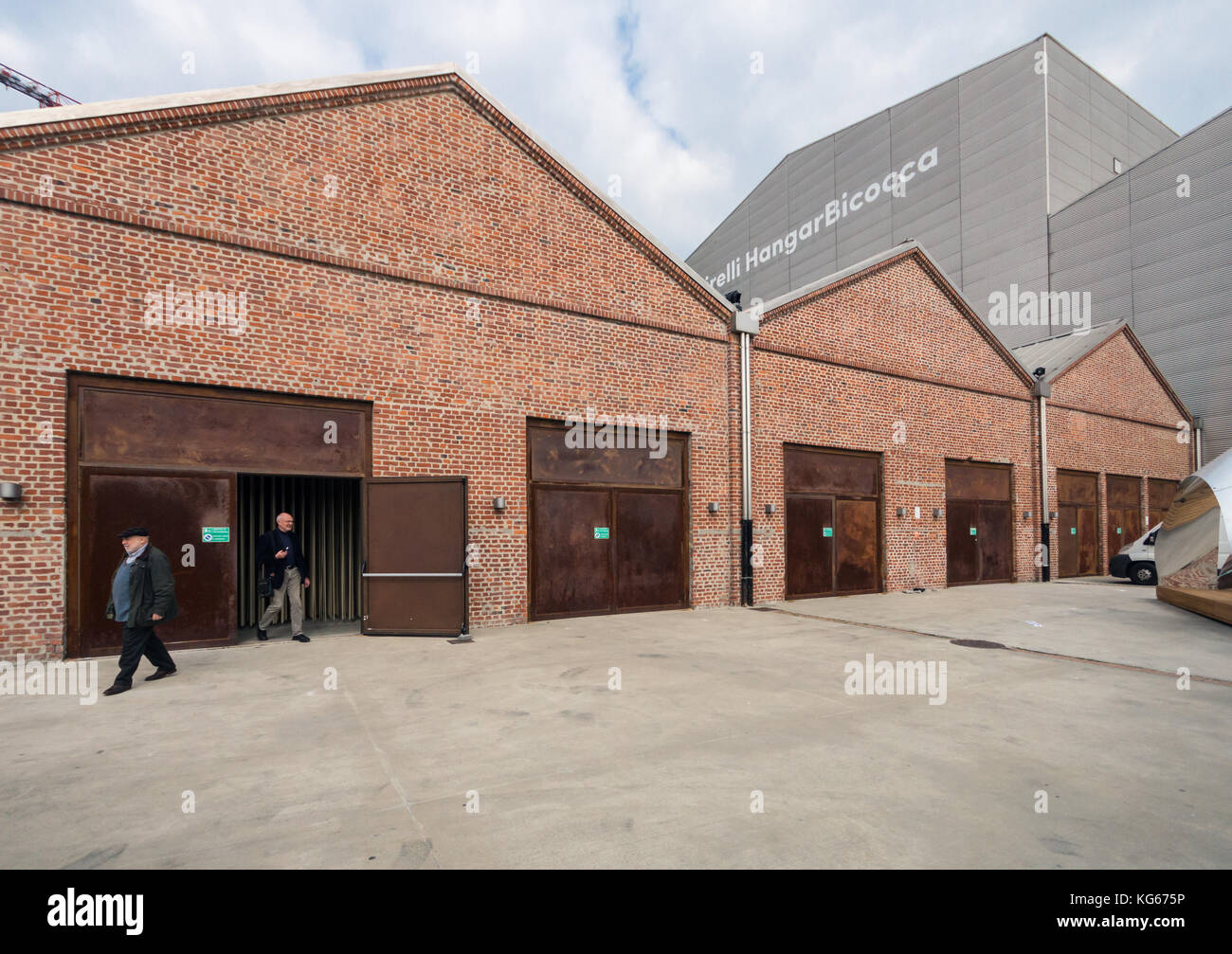 The Pirelli HangarBicocca exhibition space and art gallery, Milan, exterior view, Aplir 2016 - Stock Image