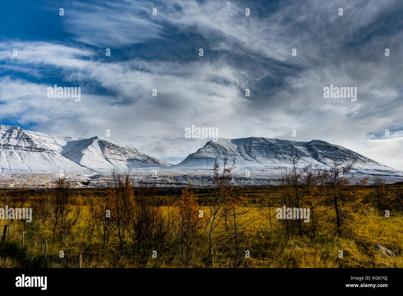 Winter in the mountains. Christmas landscape on a sunny morning. - Stock Image