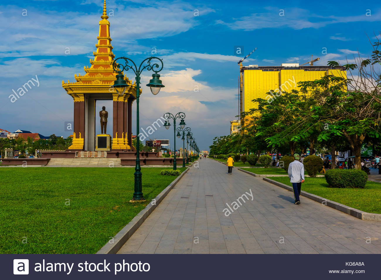 Norodom Sihanouk Memorial for the legendary former king/prime minister/statesman King Father Norodom Sihanouk, who Stock Photo