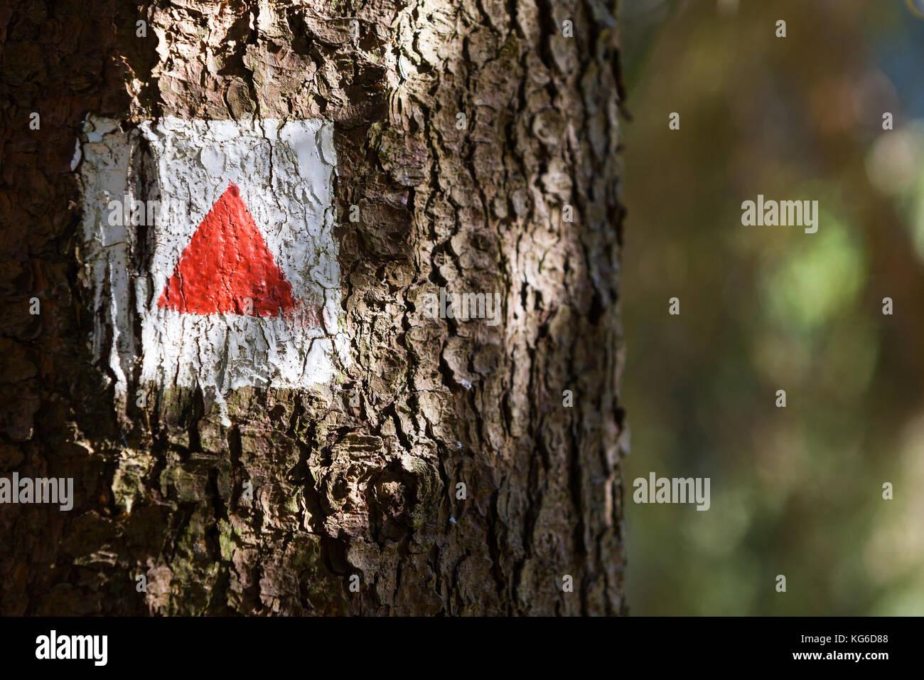 Wanderweg Kennzeichnung - Stock Image